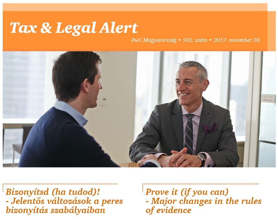 Tax Legal Alert
