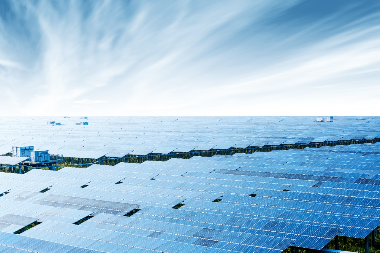 Solar plant solar farm